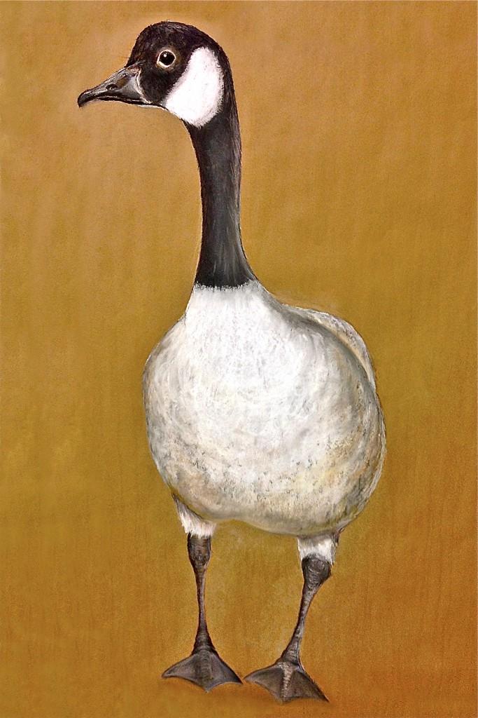 Goose. Pastel