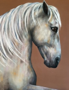"""The Roman. Pastel on Sanded Paper. 18"""" x 24"""""""