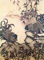 """Scenes from a Willow Pattern Plate. Ink on Paper. 10"""" x 13"""""""