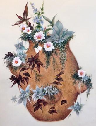 Cactus. Mixed Media. 12 X 16.