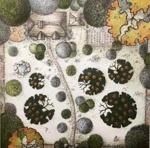 Apple Trees III. Cottage Garden